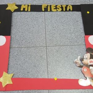 Cartel para photocall mickey