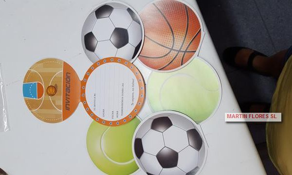 invitacion futbol, tenis y baloncesto