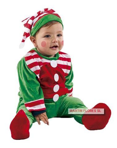 Disfraz Elfo Bebe Nino En Sevilla Para Fiesta Navidad De Guarderia - Disfraces-de-nios-de-navidad