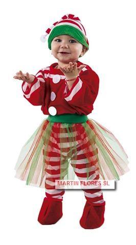 Disfraz Elfo Bebe Nina En Sevilla Para Fiesta Navidad De Guarderia - Disfraces-papa-noel-bebe
