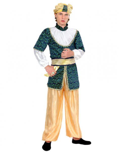 Disfraz Árabe azul, amarillo