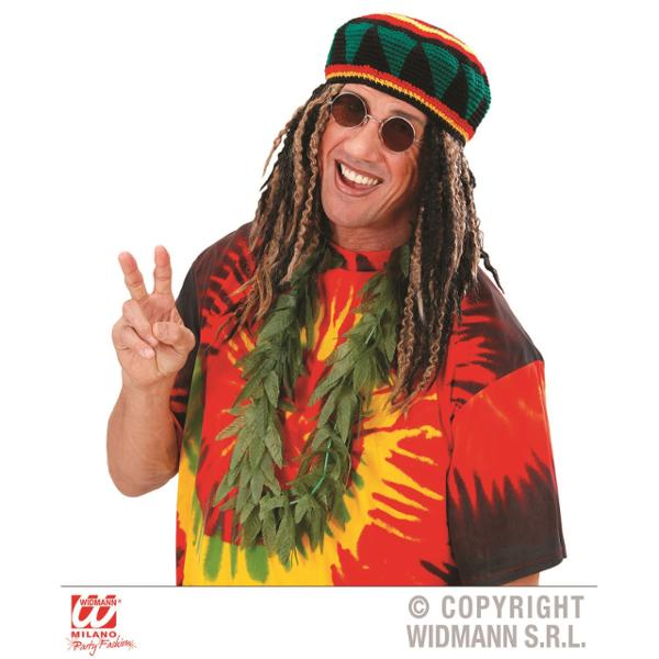 Collar hojas mariguana jamaicano