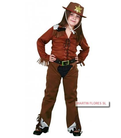 efd194b913e97 Disfraz vaquera marrón para niña en Sevilla pra Carnaval
