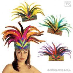 gorro plumas samba brasileña salsa en sevilla para carnaval original