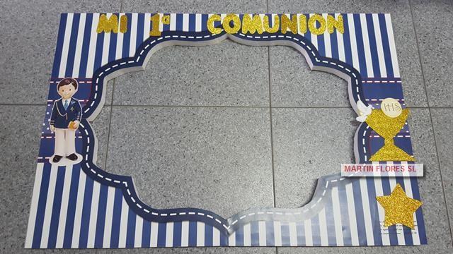 Cartel photocall niño comunión o marco barato para fotos en Sevilla