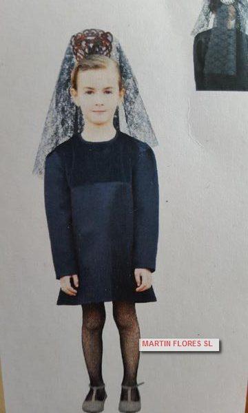 Disfraz mantilla especial niña