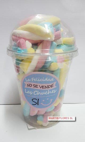 Bote esponjitas candy bar