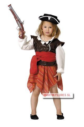 Disfraz vestido pirata infantil en sevilla para comprar online - Maquillaje pirata nina ...