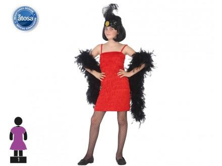 Disfraz Vestido Charlestón Rojo Niña