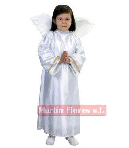Disfraz ángel alas plumas