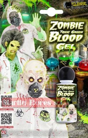 Maquillaje sangre verde zombie