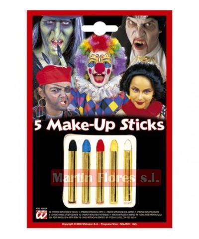 Maquillaje 5 mini barras colores