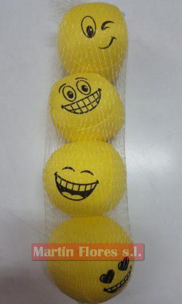 4u Pelota peluches emoji amarillo