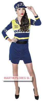 Disfraz policia local mujer