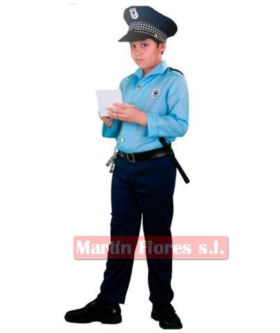 Disfraz policía local camisa azul