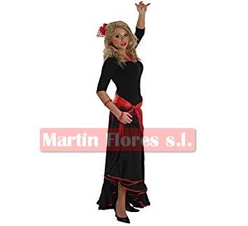 Falda baile negra filo rojo