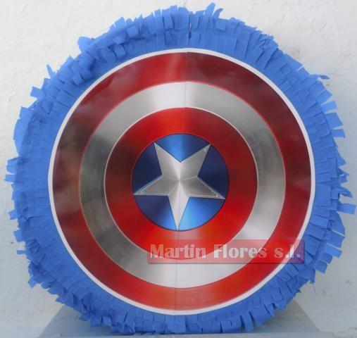 Piñata 3d capitán américa escudo