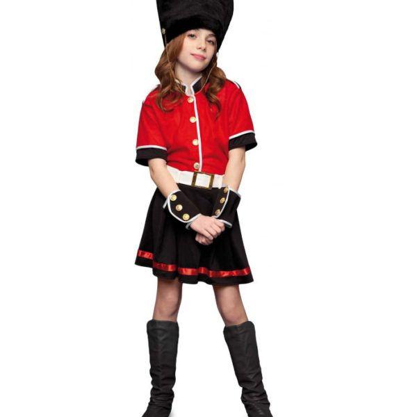 Disfraz guardia inglesa niña