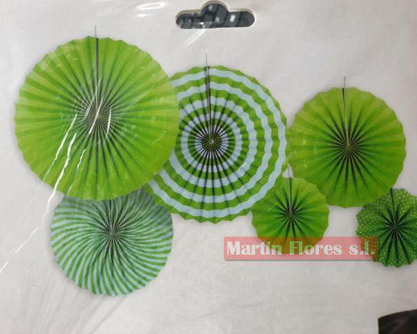 Abanicos paipai papel verde