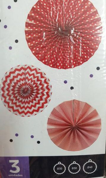 Abanicos paipai papel rojo