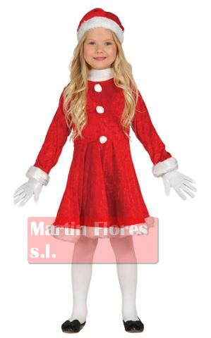 Disfraz mamá noel rojo 5-6