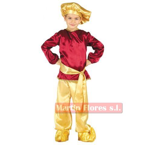 Disfraz paje Rojo Guirca