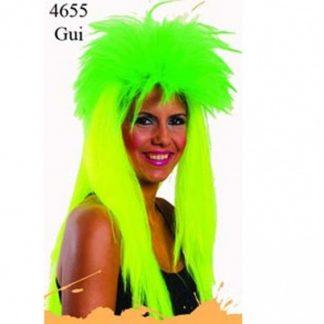 Peluca verde fluor rockera