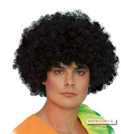 Peluca afro negra normal