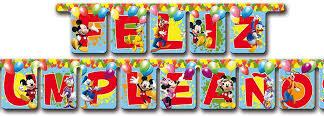 Guirnalda Feliz cumple Mickey