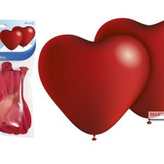 Globo forma corazon rojos