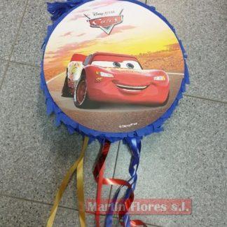Piñata 3D coche cars redonda