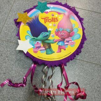 Piñata 3d redonda Trolls
