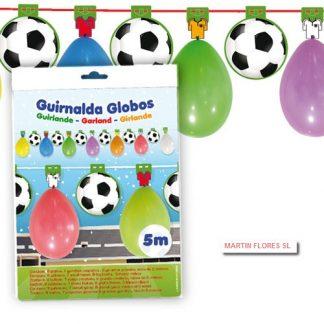 Guirnalda globos balones Fútbol