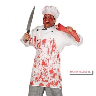 Delantal cocinero sangriento
