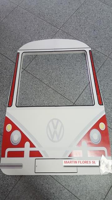Cartel photocall furgoneta hippie