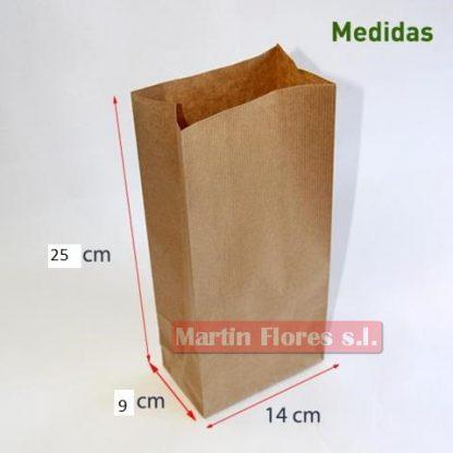 10u bolsa papel craft marrón