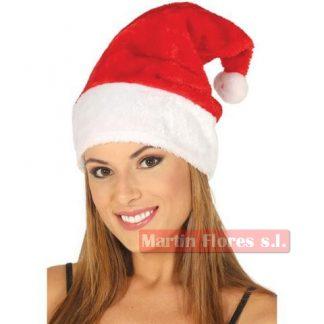 Gorro Papa Noel tacto aterciopelado