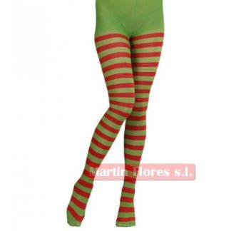 Medias duende elfo roja verde enteriza