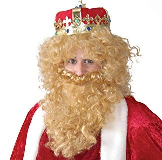 Peluca y barba rubia especial rey