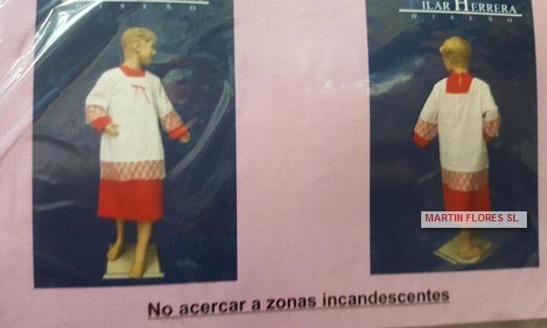 Disfraz monaguillo rojo