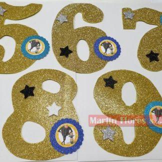 Número decoración tarta Minions