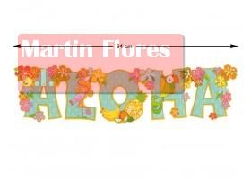 Guirnalda letras aloha