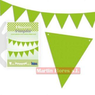 Banderín triángulos verde