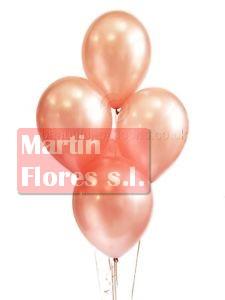 Bolsa globo metalizado Oro rosado