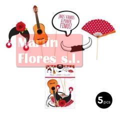 Palitos photocall flamenco