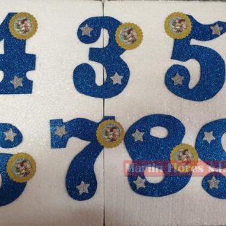 Número decoración tarta toy Story