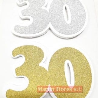 Número decoración fiesta 30 años