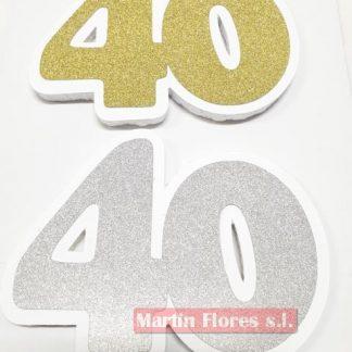 Número decoración fiesta 40 años