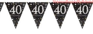 Banderín guirnalda 40 años
