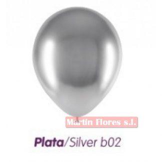 Bolsa globo Brillant Plata